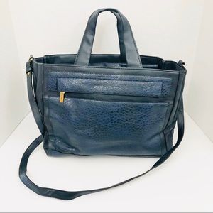 French Connection Blue Crossbody Bag W/ 5 Pockets